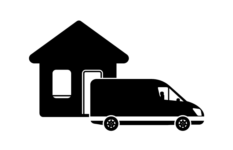 Home removals with van